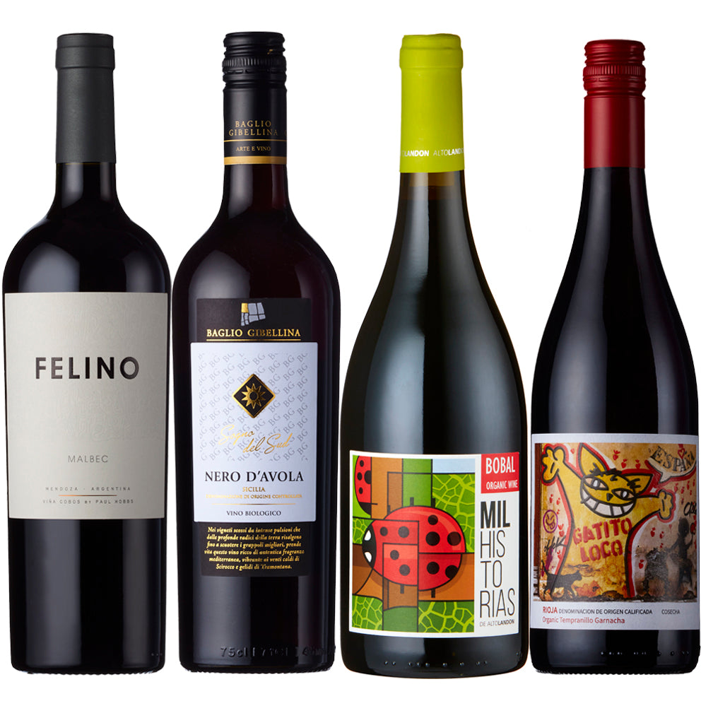 Organic Red Wine Case - Four bottle Selection