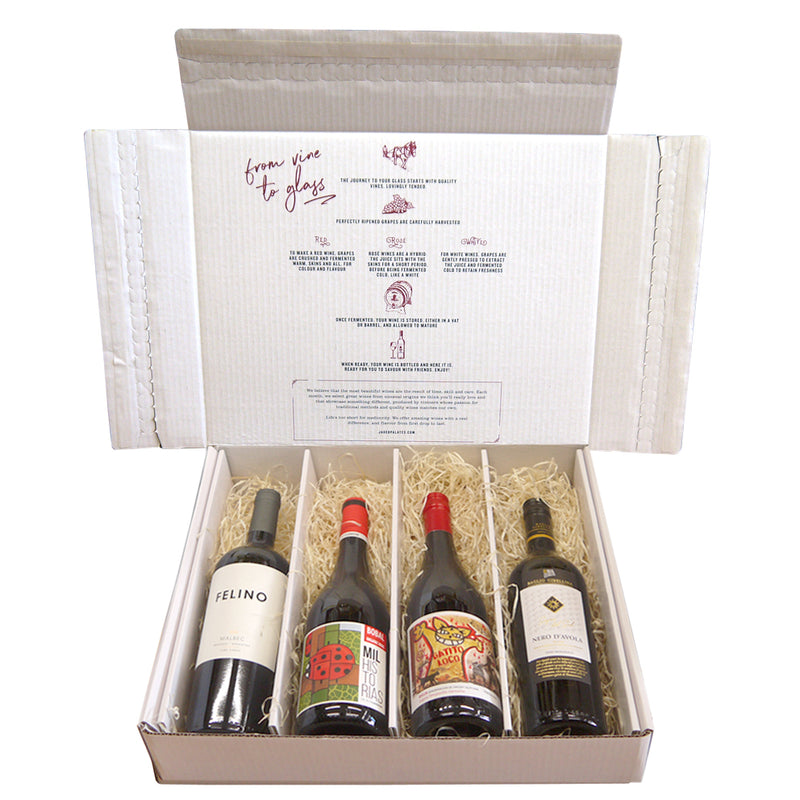 Vegan Red Wine Case - Four bottle Selection