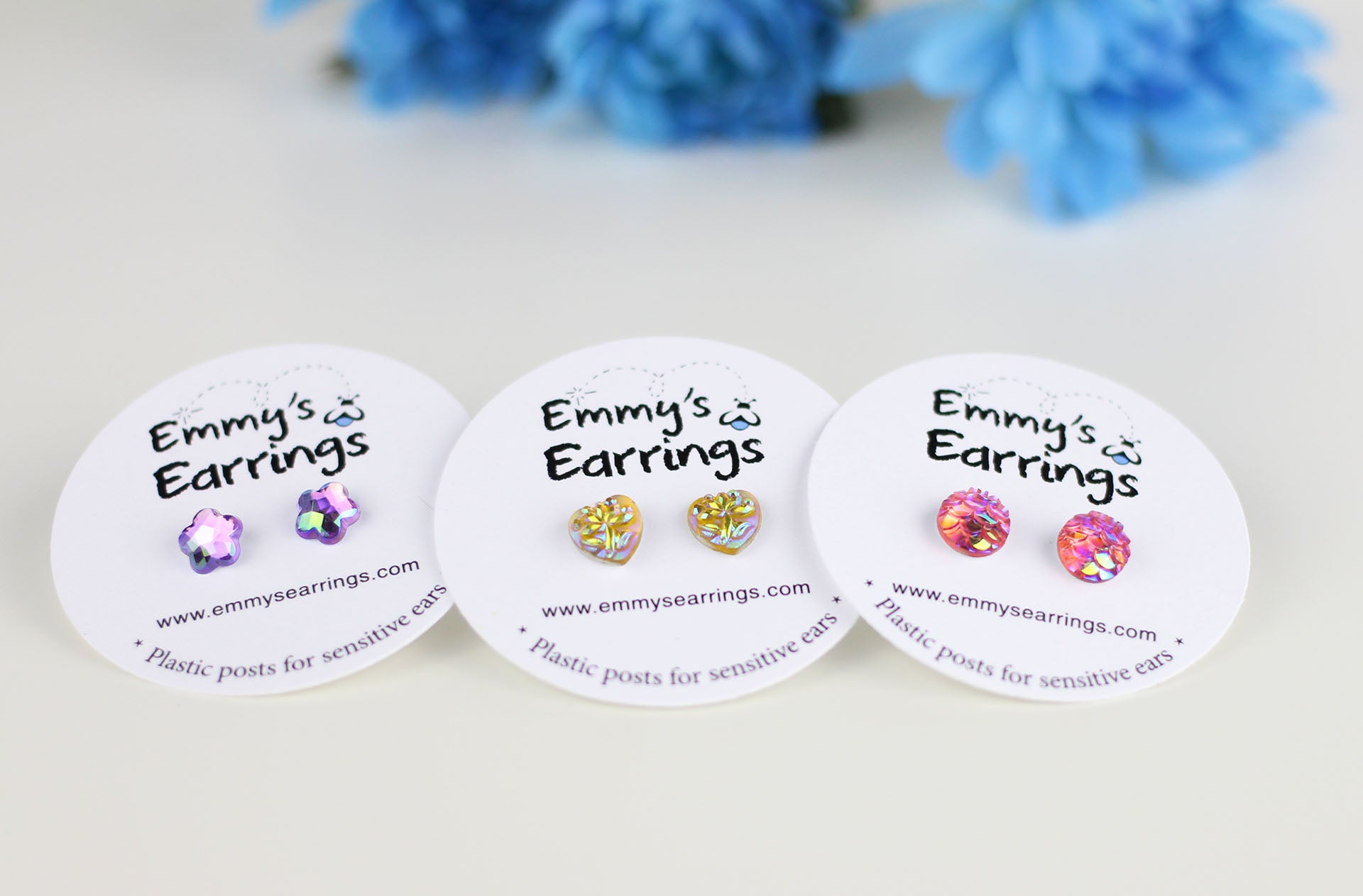 Lifetime Warranty Plastic Post Earrings