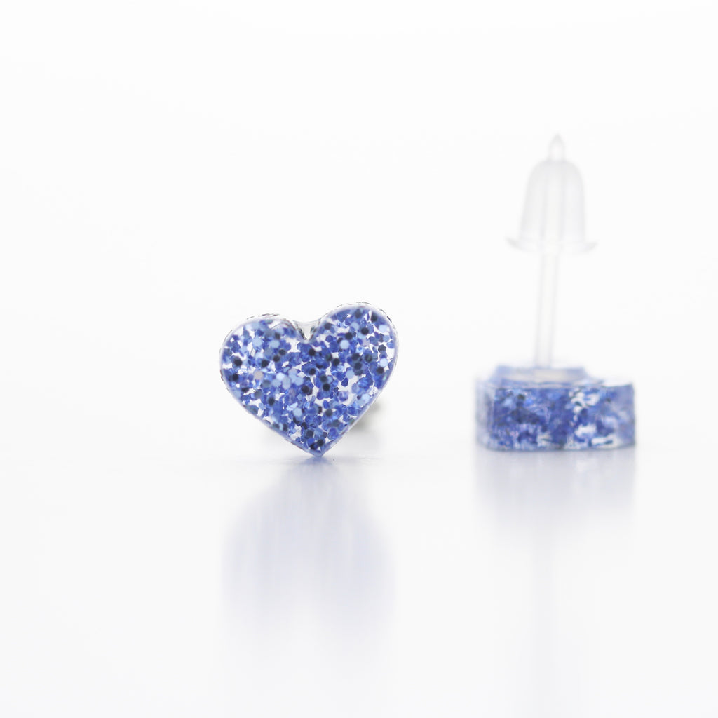 Icy blue Sparkle Hearts