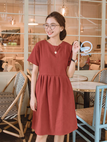 Ukiyo Dress - Rust