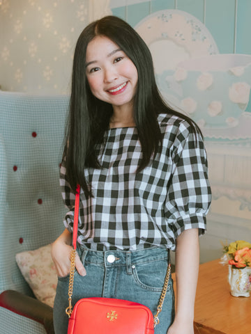 Momo Blouse - Gingham