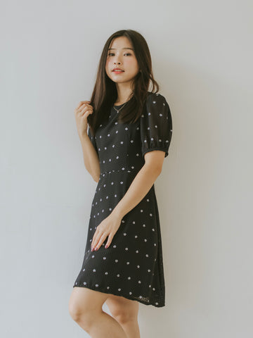 Kimi Floral Dress - Black