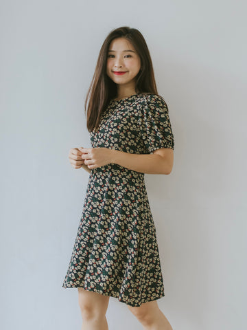 Kimi Floral Dress - Green