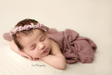 Mauve Textured Knit Wraps IVY Newborn Photography Prop