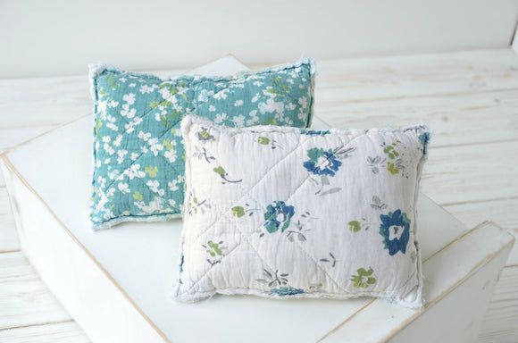 Rustic Floral Quilted Newborn Pillows