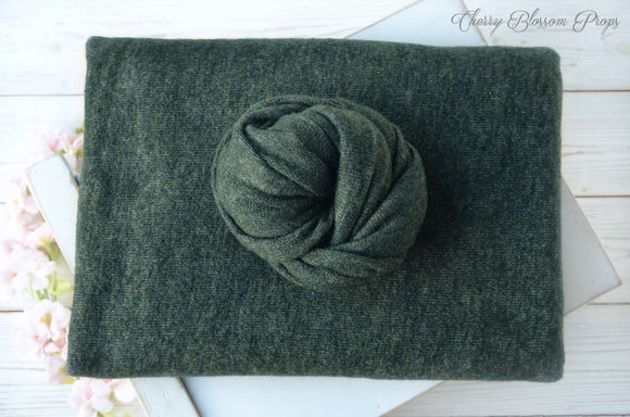 Dark Green Stretchy Knitted Posing Fabric