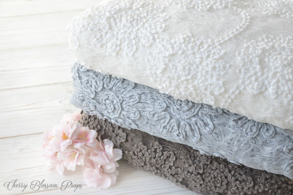 Neutral Lace Posing Fabrics ROSE Newborn Photo Prop