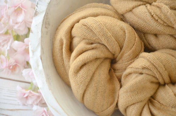 Caramel Super Soft Stretchy Knit Wraps LYNDA