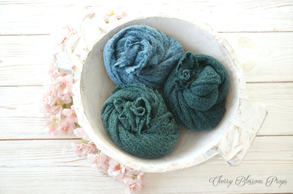 Textured Stretch Knit Wraps IVY Newborn Photo Prop