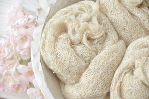 Light Beige Newborn Textured Wraps SOPHIA