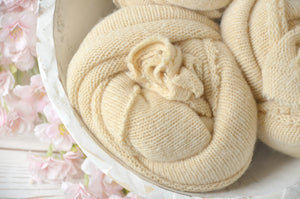 Super Soft Simple Knit Newborn Wraps MARTHA