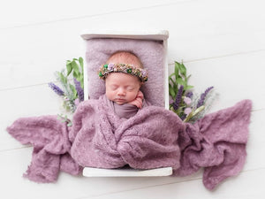 Dusty Purple Newborn Textured Wraps SOPHIA