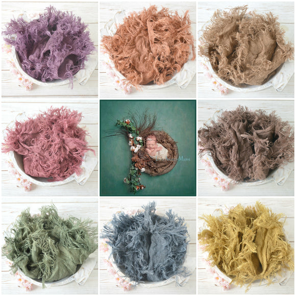 Hand Dyed BURLAP Layers (8 Colours)