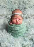 Mint newborn wraps photography props