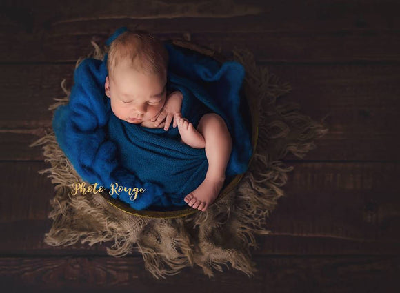 Super Soft Teal Blue Sweater Knit Wraps OLIVIA Newborn Photo Props