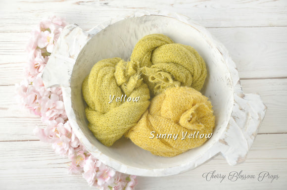 Yellow Delicate Knit Wraps AMY