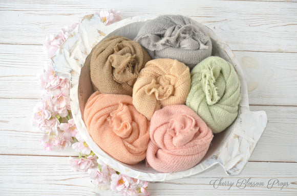 Super Soft Knit Newborn Wraps AMELIA