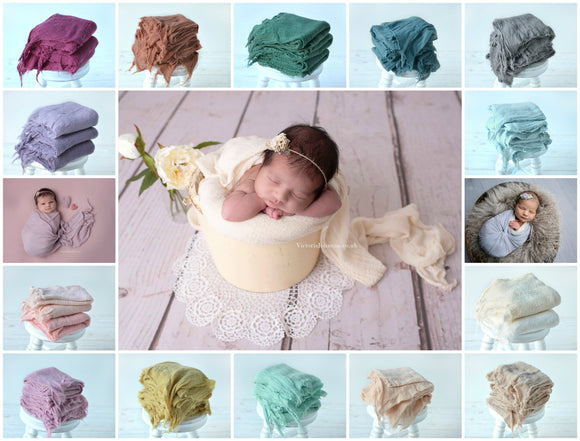 Soft Textured CHEESECLOTH Wraps