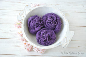 Purple Delicate Knit Newborn Wraps AMY