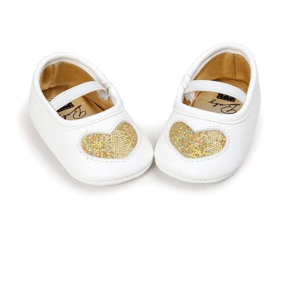 Baby Girls' LOVE Shoes Soft Soled