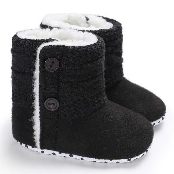Baby Girls' Warm Knitted Boots