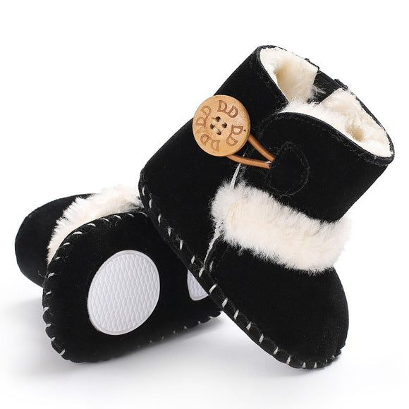 Baby Girls' Snowfield Wooden Buttons Boots