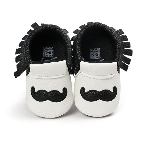 Baby Boys' Mustache Pattern Shoes