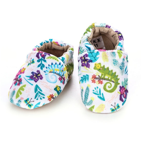 Baby Girls' or Boy Lizard Printed Shoes