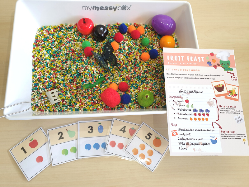 sensory activity of growing wings messy box