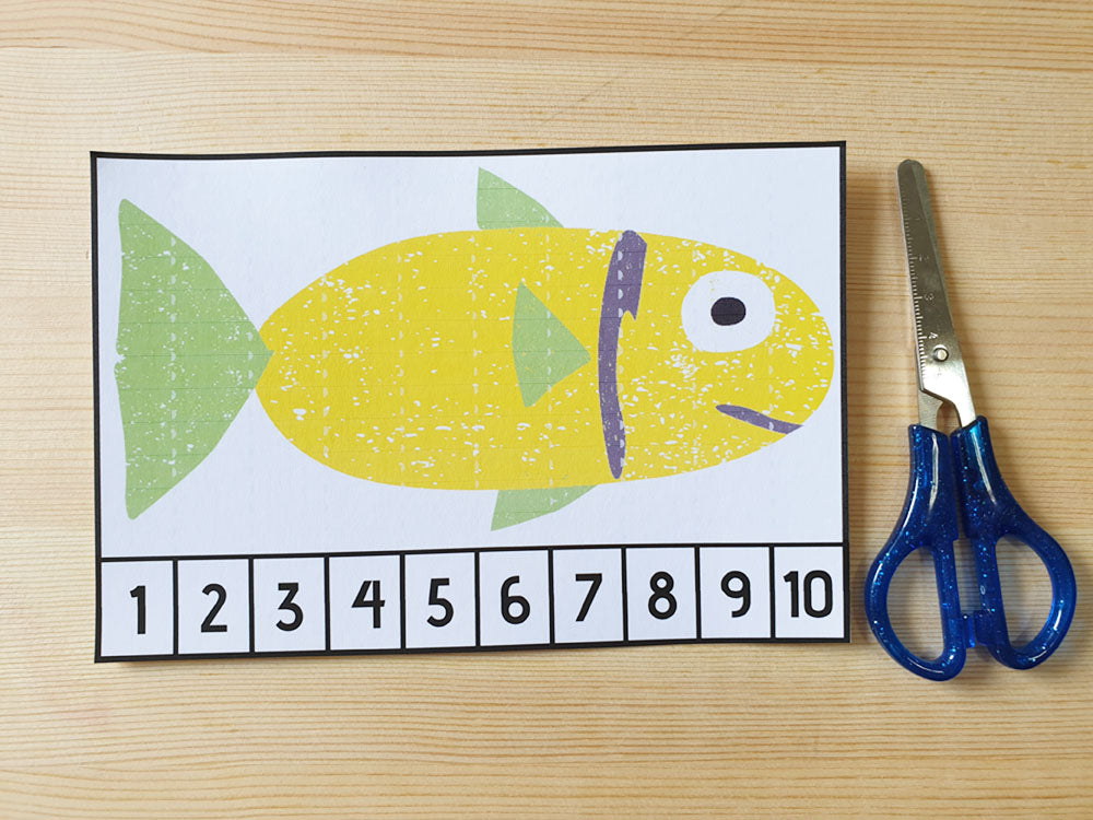 Load image into Gallery viewer, Number Fishing Game printables