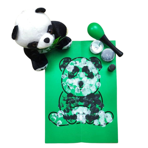 panda symmetry craft for toddlers