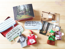 Load image into Gallery viewer, Red Riding Hood Finger Puppet Set