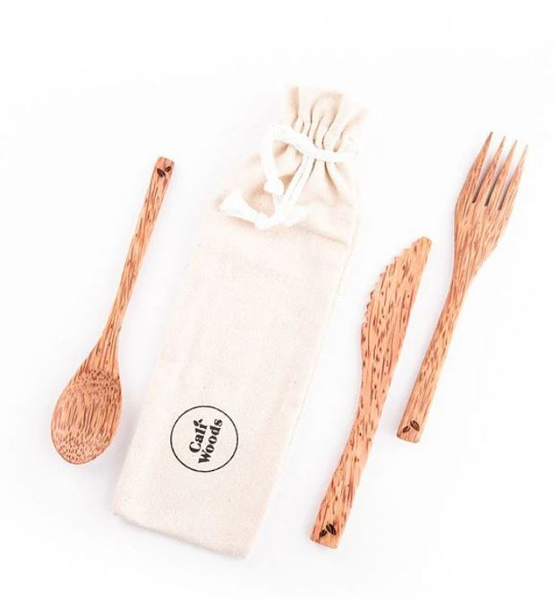CaliWoods Coconut Wood Cutlery