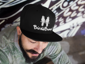 Birdie Bump Black Snapback with White Logo