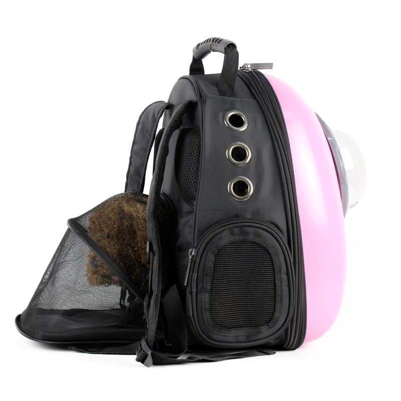 Lovely Bubble Pink Pet Carrier Backpack | Portable Doggie