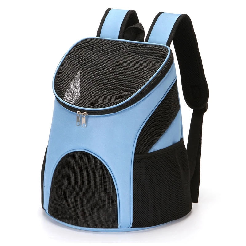 Pet Outdoor Zipper Backpack Carrier | Portable Doggie
