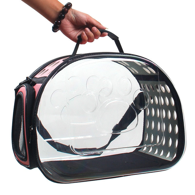 Foldable Transparent Pet Carrier Handbag | Portable Doggie
