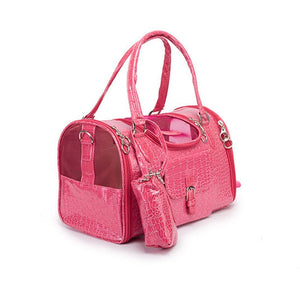 Leather Small Pet Carrier | Portable Doggie