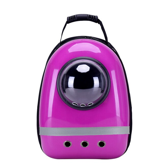 Colorful Transparent Pet Outdoor Backpack Carrier - Portable Doggie