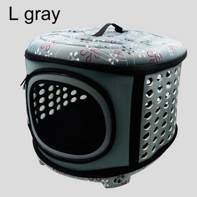 Pet Carrier For Dogs Cat Folding Cage Collapsible Crate Handbag Plastic Carrying Bags Pets Supplies Sac De Transport Pour Chien | Portable Doggie