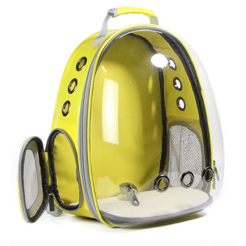 Colorful Transparent Capsule Carrier Backpack | Portable Doggie