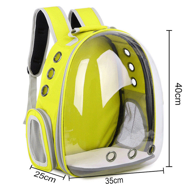 Transparent Capsule Pet Backpack | Portable Doggie