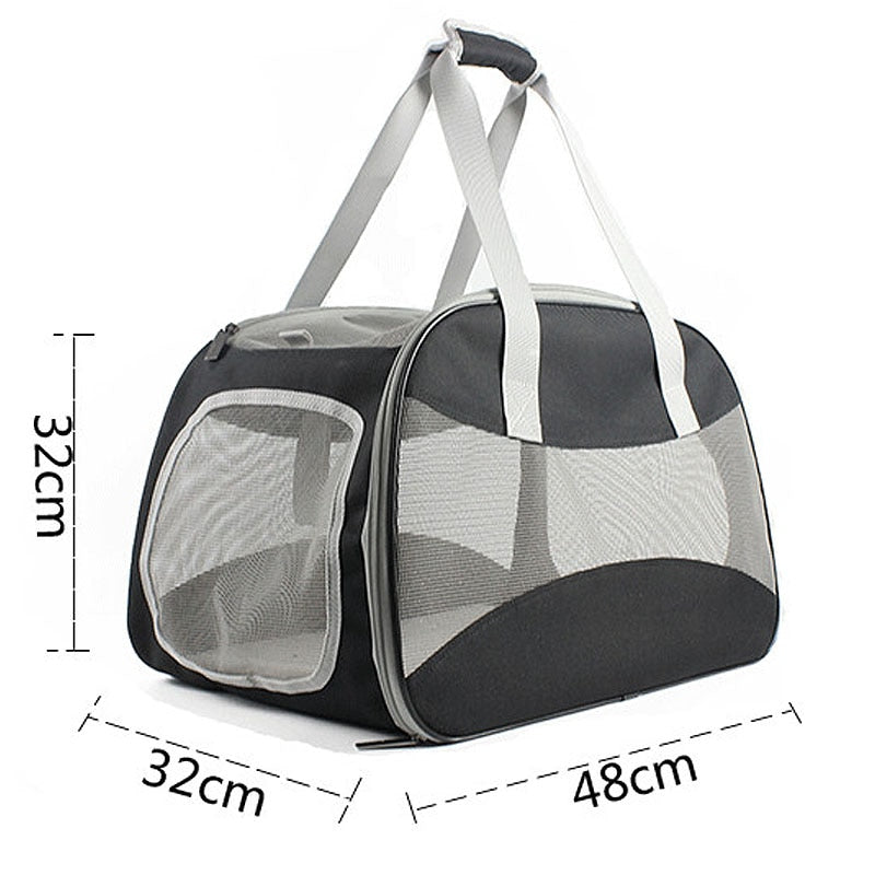 Breathable Pet Hand Bag - Portable Doggie