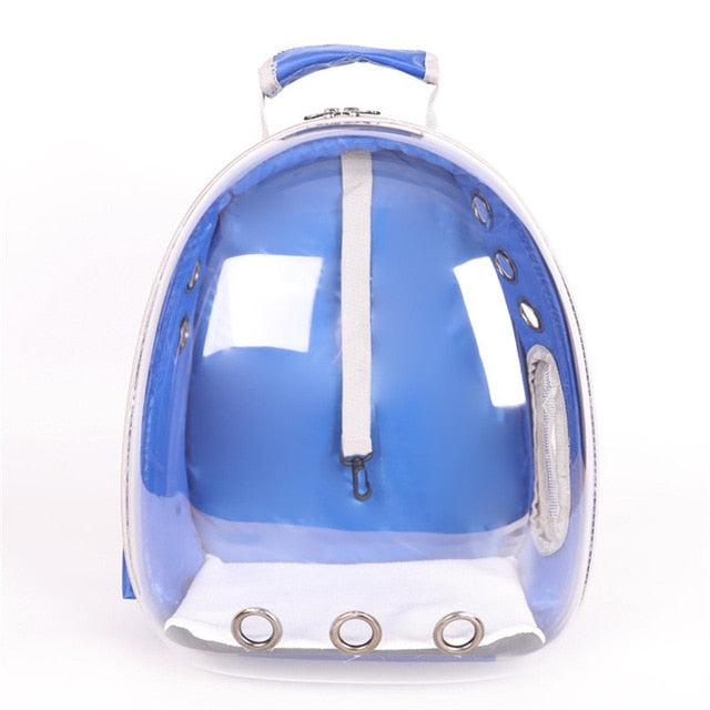 Cool Colors Transparent Pet Carrier Backpack | Portable Doggie