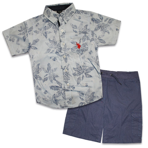 U.S. Polo Assn Boys Shirt & Short Set