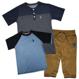 U.S. Polo Assn Boys 3 Pcs Set