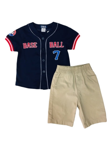 Baseball Boys Shorts Set
