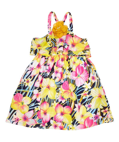 Girl Halter Floral Dress