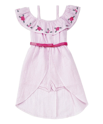 Girls High Low Romper Dress